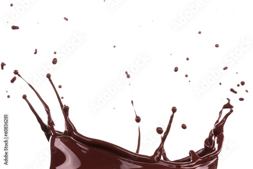 Splash of brownish chocolate