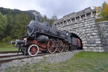 Old locomotive, Fréjus Rail Tunnel, Modane - France