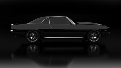 Vintage car black