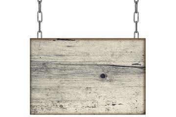 altes Holzschild Hintergrund Nachricht Kette grau