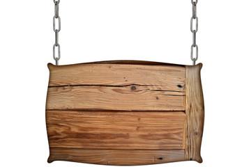 altes Holzschild  Kette