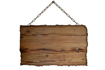 Holzschild Hintergrund Nachricht Kette
