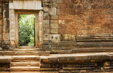 Ruins of the ancient temple near Angkor Wat