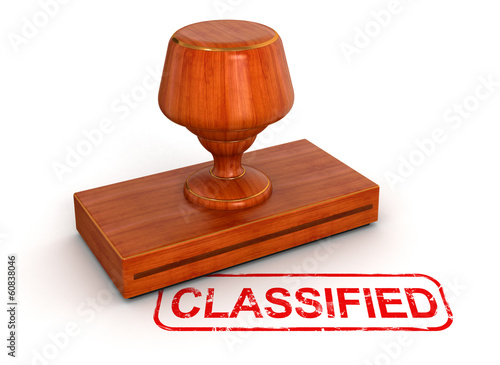 Rubber Stamp classified (clipping path included)