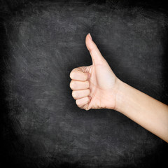 Like - Likes hand giving thumbs up on blackboard
