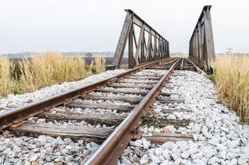 Landscape of Railway bridge, Thailand
