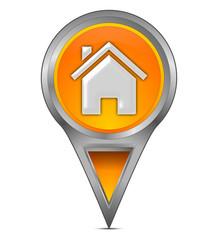 Pin Pointer mit Home Symbol