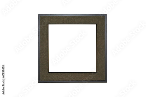 isolated classic wooden photo frame in white background