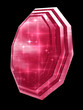 A ruby gemstone isolated on black