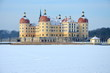 canvas print picture - Winter in Moritzburg