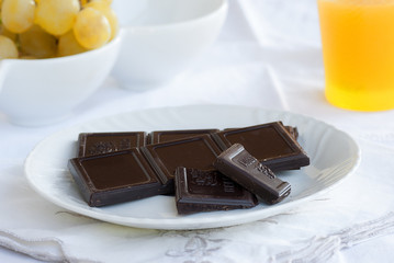 barrette di cioccolato fondente