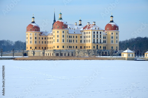 canvas print picture Winter in Moritzburg