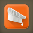 Chef hat, long shadow vector icon