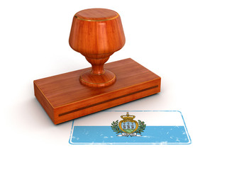 Rubber Stamp San Marino flag (clipping path included)