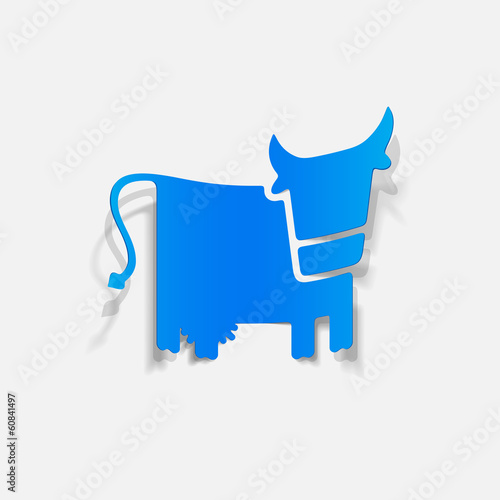 realistic design element: cow