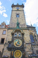 Astronomical Clock tower in old town Prague, Czech Republic