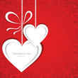 Valentines day card with hearts. Vector illustration.
