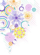 Vector abstract background with multicolor circles
