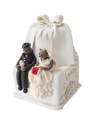 Wedding cake with bear doll