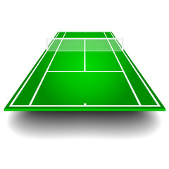tennis court with perspective