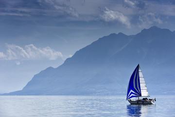 Segelschiff auf dem  Genfer See, Schweiz