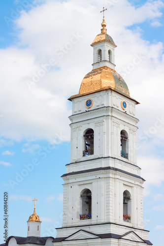 Bell tower of Sofia church in Tobolsk