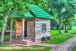 Small house in the park