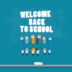 Vector Back to school Blue Background