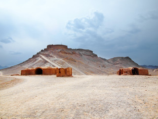 Towers of Silence in Yazd, Iran