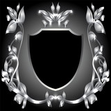 coat of arms  silver monogram