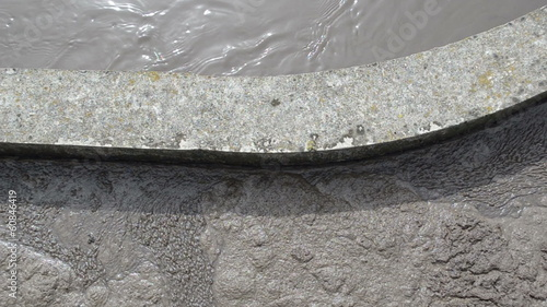 sewage water flow in aerated grit chambers treatment plant stage