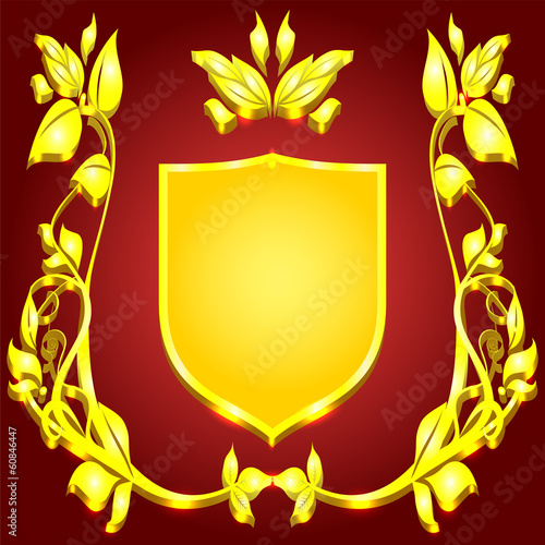 coat of arms gold monogram