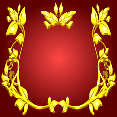 monogram gold