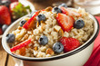 Healthy Homemade Oatmeal with Berries - 60846844