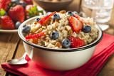 Fototapety Healthy Homemade Oatmeal with Berries
