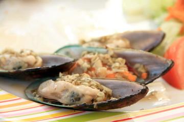 Stuffed mussels Spain