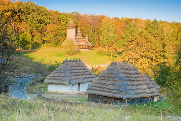 Old traditional village in Ukraine