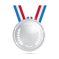 Vector Silver Medal, Award Isolated on White Background