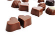 heart-shaped chocolate bonbons