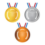 Vector Medals Set Isolated on White Background