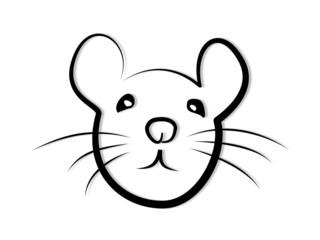 Maus - Ratte Tribal Gesicht