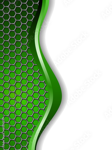 Abstract green white background