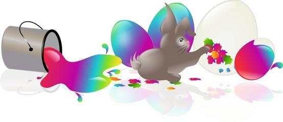 Rabbit easter arts