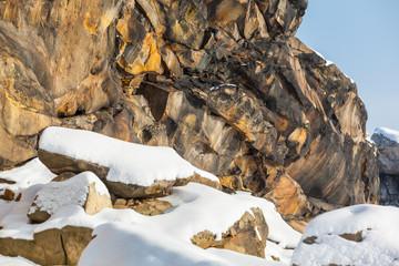 Teufelsmauer Harz im Winter