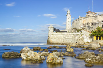 The fortress of El Morro in the bay of Havana