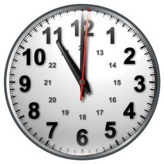 11 bw clock