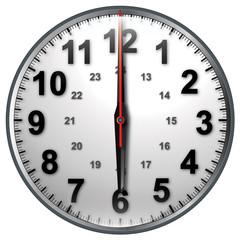 6 bw clock
