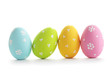 canvas print picture - Easter eggs isolated