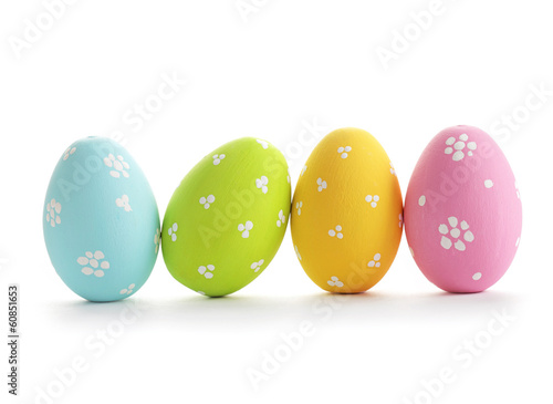 canvas print picture Easter eggs isolated