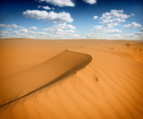 Sand dunest in the Sahara Desert
